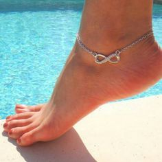 Infinity ankle bracelet, love it