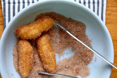 Homemade churros-Looks good, but is fried and has too much sugar. It is a definite Lizard Brain snack!