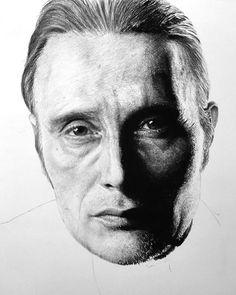 Mads Mikkelsen | Work in progress 6  #madsmikkelsen #hannibal #workinprogress #artwork #monochrome #drawing #charcoal #pencil #worldofpencils #eyeart #eye #eyes #portrait #portraits #lechiffre #creativeuprising #artist #art #realism #bnw_society #bw_lover #monoart #noir #artcollector #artcollection #blackandwhite #instaart #arte #arts #bnw