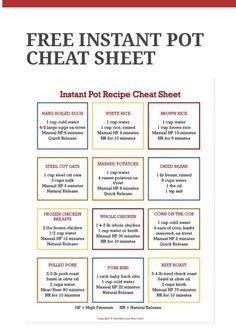 Instant Pot Cheat Sheet Notebook, Bullet Journal, Boarding Pass, Instant Pot, Travel, Voyage, Viajes, Traveling, Trips