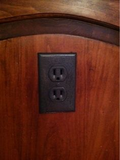 Rusteoleum makes switchplates look less plastic-y. They sell these outlet covers $12 apiece at Restoration Hardware. You can now get the look for free.