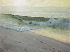 Thomas Kegler, Dawn on South Shore, Proverbs oil on linen, 9 X 12 inches Water Art, Water Water, Impressionist Artists, California Art, Oil Painters, Contemporary Landscape, Art World, Beautiful Landscapes, Impressionism