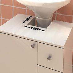Gabinete para Banheiro 3 Gavetas Branco - Politorno Laundry In Bathroom, Bathroom Cabinets, Bathroom Furniture, Space Saving Bathroom, Small Bathroom Organization, Kitchen Cabinet Storage, Storage Cabinets, Corner Closet, Toilet Room