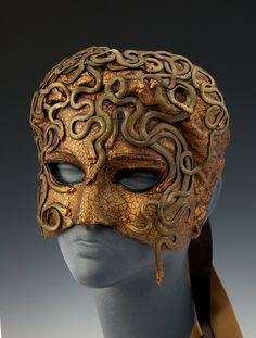 Medusa in Chains  Half Mask by TheArtOfTheMask on Etsy