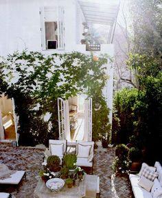 beautiful white patio