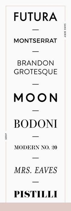 favorite fonts for branding   font pairing guide   sans serif vs serif fonts   Reux Design Co.