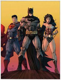 batman, superman, wonder woman, dc  Color by H8Leech