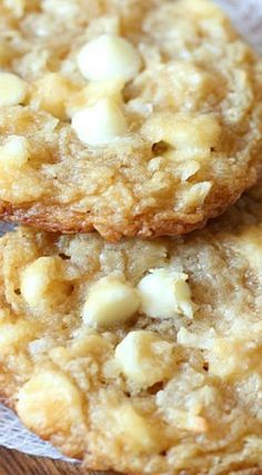 White Chocolate Coconut Cream Cheese Cookies recipe - I love coconut desserts!