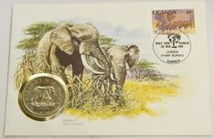 World Wildlife Fund First Day Cover with Uganda coin - 20 May 1990
