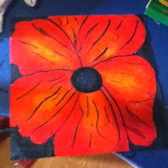 Poppy art assignment with pastels