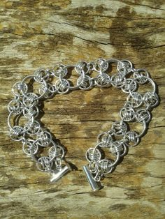 Chain mail bracelet by Janet Woods-Lennon