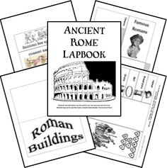 This FREE Ancient Rome lapbook includes themed such as Roman Empire, Julius Caesar, gladiator, Nero, Pompeii, Mt. Vesuvius, Roman gods