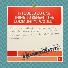 Edmon would like to open an affordable daycare/learning center focused on early childhood development. #MembersMatterMondayMoment #MembersMatter #LocalMatters #Communerosity