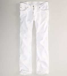 Rugged cotton denim, Sits below the waist, Straight fit through the thigh, leg opening, Clean white wash More Details American Eagle Men, Mens Outfitters, Men And Women, Lounge Wear, American Eagle Outfitters, Active Wear, Khaki Pants, Legs, Hoodies