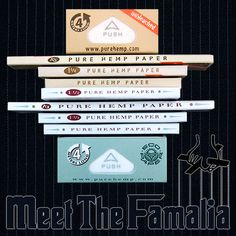 Have You Met The Family? #PureHemp #Classic And Pure Hemp #Unbleached #NowYouKnow #Hemp #RollYourOwn #RollingPapers Rolled Paper, Hemp, Rolls, Pure Products, Classic, Green, Humor, Derby, Buns