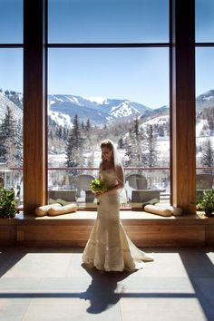 This photo makes me rethink having a winter wedding. Beautiful Wedding Ceremony & Reception Venue