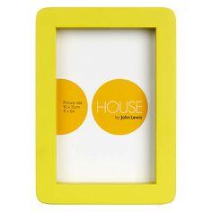 "BuyHouse by John Lewis Photo Frame, 4 x 6"" (10 x 15cm), Dandelion Online at johnlewis.com"