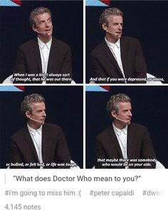 Peter Capaldi on what the Doctor means to him.
