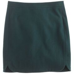 J.Crew Tall shirttail mini in wool (€62) ❤ liked on Polyvore featuring skirts, mini skirts, bottoms, faldas, polleras, blue skirt, long wool skirts, blue mini skirt, wool mini skirt and long skirts