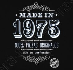 Camiseta Made in 1975 - nº 1156593 - Camisetas latostadora