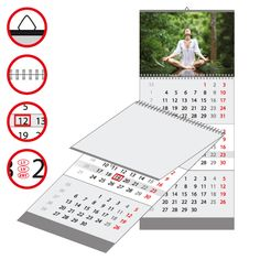 Wall calendar three parts - great choice for every workplace!