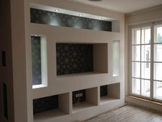 Muebles lcd Tv Wall Design, House Design, Tv Feature Wall, Tv Stand Designs, Bedroom False Ceiling Design, Tv Wall Decor, Entertainment Wall, Living Room Tv, Home Renovation