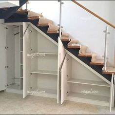 Awesome Cool Ideas To Make Storage Under Stairs 1 Understairs Storage Awesome BasementRemodel Cool Ideas stairs storage Staircase Storage, Basement Storage, Staircase Design, Closet Storage, Dvd Storage, Hidden Storage, Diy Storage Under Stairs, Under Staircase Ideas, Secret Storage