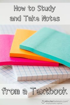 How to Study and Take Notes from a Textbook - perfect for middle school students.