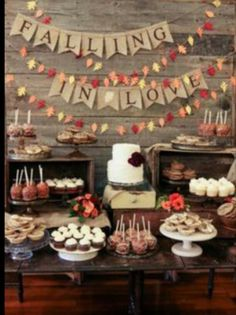 Autumn desert table Visit http://www.brides-book.com for more great wedding resources