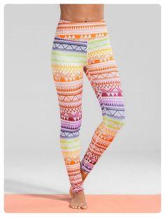Geometric Print Gym Yoga Leggings (Colormix)