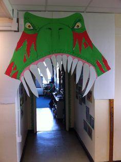 Dinosaur classroom door! Eek!