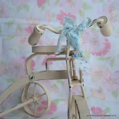 Painted and Distressed Antique Iron Tricycle. Upcycled Home Decor. Willow Moon Vintage on Etsy.