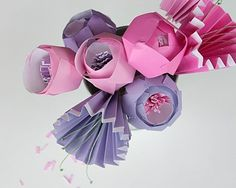 tutorial: How Make a Bunch of the Prettiest Paper Flowers via craft. Paper Flowers Craft, Origami Flowers, Flower Crafts, Paper Crafts, Creative Skills, Bunch Of Flowers, Diy Arts And Crafts, Step By Step Instructions, Paper Art