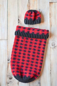 91cd7ec12ce Crochet Kit - Plaid Cocoon Set