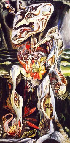 The Labyrinth by André Masson (French 1896 - Harlem Renaissance, Automatic Drawing, Art Brut, Surrealism Painting, Magritte, Art Moderne, Art Abstrait, Fantastic Art, Cubism