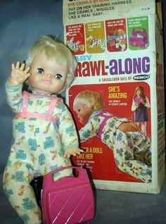 BABY CRAWL ALONG DOLL, 48CM, 1967, REMCO