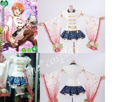 Lovelive Love Live Hoshizora Rin Cosplay Costume Dress Flowers | eBay
