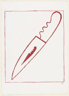 Louise Bourgeois. Dagger Child, state I. (2001)