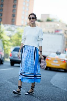 Spanish blogger Gala Gonzalez during NYFW | #Catalana Tire sole #espadrilles #ss15 #trends