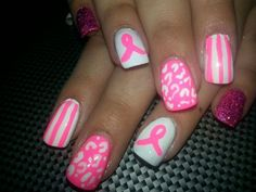 #breast cancer #nails  go breast cancer