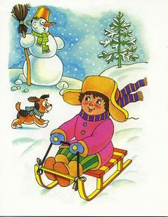 Время года - Зима Cute Kids Pics, Cute Pictures, Four Seasons Art, Winter Activities For Kids, Educational Toys For Toddlers, Paper Plate Crafts, Vintage Christmas Cards, Christmas Pictures, Preschool Crafts