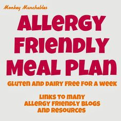 Monkey Munchables: SPECIAL POST: Gluten-Free/Dairy Free Lunches.