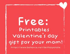 """Check out new work on my @Behance portfolio: """"#FREE : Printables Valentine's Day…"""