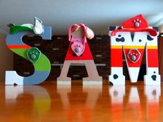 PAW Patrol Character Inspired Nursery Letter Art by CreationsLK