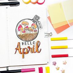 "5,348 Likes, 17 Comments - Notebook Therapy (@notebook_therapy) on Instagram: ""Hello April  how lovely is this cover page by @explorejournaling remember that our easter sale…"""