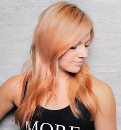 Strawberry Blonde Layered Hairstyle
