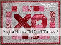 Tutorial : Hugs & Kisses Mini Quilt