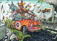 상황표현 Cartoon Kunst, Comic Kunst, Comic Art, Art And Illustration, Human Painting, Drawing Competition, Coaster Art, Composition Art, Character Design Animation