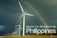 ELECTRIC FAN. More FUN in the Philippines! (Wind Farm--Bangui, Ilocos Norte, Philippines) Philippines Tourism, Philippines Culture, Tourism Department, Ilocos, Electric Fan, Pinoy, More Fun, Places Ive Been, Wanderlust