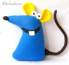 Felt Crafts Diy, Felt Diy, Sewing Stuffed Animals, Stuffed Toys Patterns, Kids Pillows, Animal Pillows, Finger Puppet Patterns, Soft Toys Making, Mouse Crafts